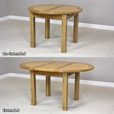 london solid oak round extending dining table seats 4 to 6