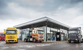 mercedes truck dealers uk commercial leads from the front with scotland s