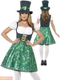 ladies leprechaun lass costume adults irish ireland st patricks
