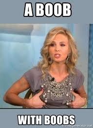 Boobies Memes - a boob with boobs elisabeth hasselbeck her boobies meme generator
