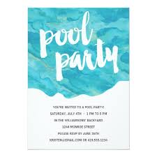 Backyard Birthday Party Invitations by Watercolor Birthday Invitations Backyard Splash Pool Party Card
