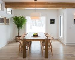 Modern Pendant Lighting Dining Room by Wooden Beam Ceiling For Contemporary Dining Room Ideas Using