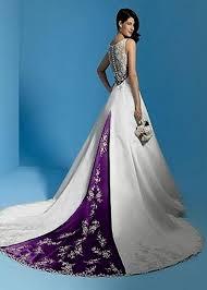Purple And White Wedding Purple And White Wedding Dress With Sleeves Naf Dresses