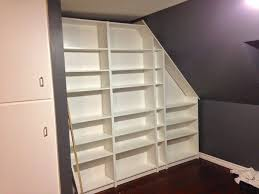 How To Make Bookcases Look Built In Make Me A Built In Bookcase She Said Ikea Hackers Ikea