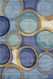 Area Rugs With Circles Beautiful Contemporary Rug With All Shades Of Blue Blue Circles