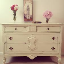 1920 u0027s shabby chic dresser in annie sloan chalk paint cream with