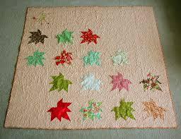 sized maple leaf throw quilt moda bake shop