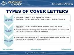 cover letter types resume cv cover leter