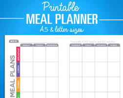 printable meal planner with calorie counter printable fitness planner nutrition tracker bundle weight