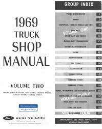 1969 ford truck shop manual 4 volume complete service factory
