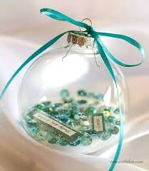 personalized glass ornaments clear ornament gift create a