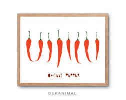 chilli art etsy