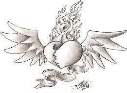 40 best broken heart with wings tattoo images on pinterest heart