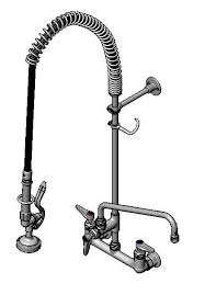t s brass commercial kitchen faucets kitchen kraus commercial pre rinse chrome kitchen faucet t s