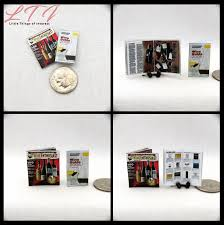 kitchen collection magazine 2 wine guide magazine dollhouse miniature 1 12 scale 2 for 1