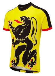 Lion Flag Lion Of Flanders Road Cycling Jersey Foska Com