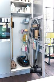 Vacuum Cleaner Storage Cabinet with New York Broom Closet Cabinet Kitchen Contemporary With