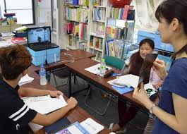 japanese class online npo offers online japanese language classes for resident children