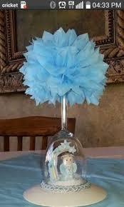 baptism centerpieces for boys baby blue cross u0026 dove decorations