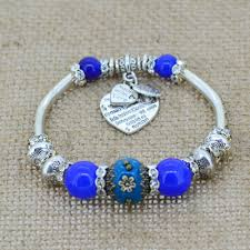 charm bracelet with beads images Fashion silver plated jewelry love heart charm bracelets bangles jpg
