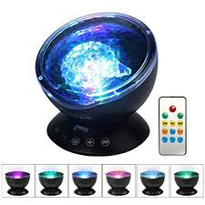 colorful lights for bedroom umiwe remote control ocean wave projector night light l with