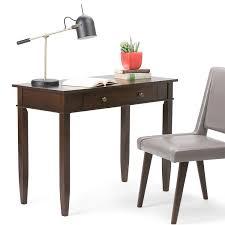 Office Furniture Desks Amazon Com Simpli Home Carlton Home Office Desk Dark Tobacco