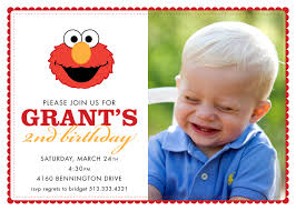 Birthday Invitation Card Sample Wording Elmo 1st Birthday Invitations U2013 Bagvania Free Printable Invitation