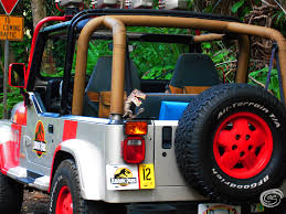 jurassic park car trex fantasy adventure kauai the garden isle adventuress chronicles