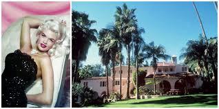 Jane Mansfield Jayne Mansfield Pink Palace Actress Jayne Mansfield Hollywood Home