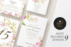 wedding invitation suite lizbeth invitation templates
