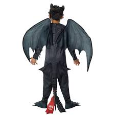 Dragon Halloween Costumes Kids Train Dragon 2 Night Fury Toothless Kids Costume