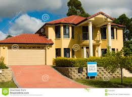 modern house for sale stock photo image of fence capital 12454516