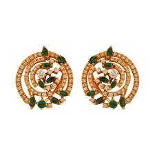 emerald stud earrings uditi diamond emerald stud earrings jewellery wedding m walters
