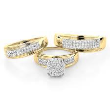 14k gold wedding ring sets new wedding trio ring sets with trio wedding ring sets 14k gold