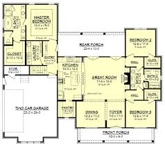 2500 Square Foot Floor Plans House Plan 62207 At Familyhomeplans Com Farmhouse Floor Plans With