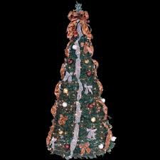 6 ft indoor pre lit pop up artificial tree with clear