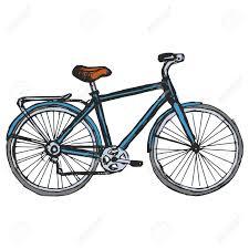 hand drawn sketch cartoon illustration of bicycle royalty free