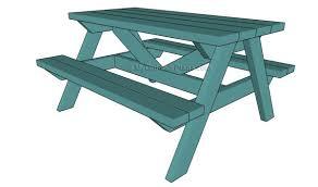 kids picnic table plans myoutdoorplans free woodworking plans
