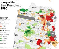 San Francisco County Map by A Map Of Which Sf Neighborhoods Became Richer Since 1990 Curbed Sf