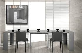 modern ultra compact extendable grey gloss dining table