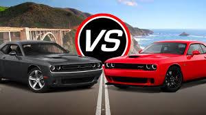 Dodge Challenger Rt Specs - 2016 dodge challenger r t vs challenger srt hellcat spec