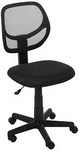Computer Chair Amazonbasics Low Back Computer Chair Black Kitchen