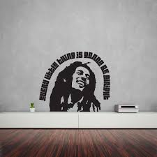 bob marley home decor bob marley quote u2013 every little thing is gonna be alright vinyl