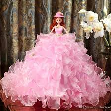wedding dress barbie doll wedding pink princess bride