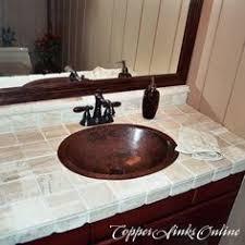 oval drop in sink ecosinks oval drop in bathroom sink in aged copper sinks bath and