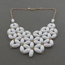 handmade statement necklace images Handmade white fan bubble necklace bib statement necklace holiday