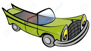 cartoon convertible car funny old retro convertible car cartoon vector illustration