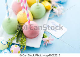 easter cakepops easter cake pops on fancy straws stock photography search