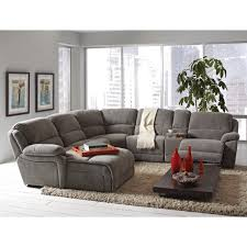 Gray Recliner Sofa Coaster Mackenzie Silver 6 Reclining Sectional Sofa With