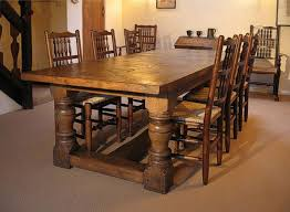 Oak Spindle Back Dining Chairs Heavy Oak Table And Spindle Back Chairs In Cheshire Cottage